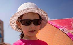 Muchacha en un sombrero Imágenes de archivo libres de regalías