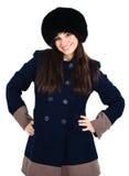 Muchacha en un sombrero de piel Fotografía de archivo libre de regalías