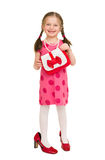 Muchacha en un vestido rojo Tiro del estudio Imagenes de archivo