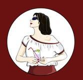 Muchacha en una blusa Imagenes de archivo