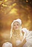 Muchacha en un vestido de boda Imágenes de archivo libres de regalías