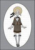 muchacha en uniforme escolar Foto de archivo