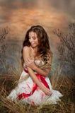 Muchacha en vestido Foto de archivo libre de regalías