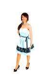 Muchacha en vestido del baile de fin de curso. Imagen de archivo libre de regalías