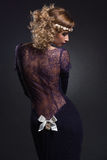 Muchacha en vestido del cordón Fotografía de archivo