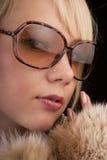 Muchacha en vidrios Fotos de archivo