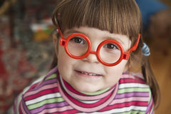 Muchacha en vidrios Imagen de archivo libre de regalías