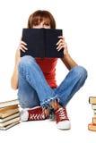 Muchacha encantadora del estudiante con los libros Fotografía de archivo