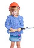 Muchacha encantadora en un vestido azul Imagen de archivo libre de regalías