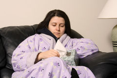 Muchacha enferma Imagen de archivo libre de regalías
