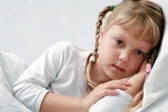 Muchacha enferma Fotos de archivo libres de regalías
