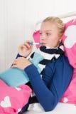 Muchacha enferma del adolescente Foto de archivo libre de regalías