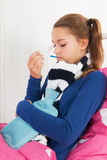 Muchacha enferma del adolescente Imagen de archivo