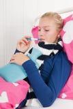 Muchacha enferma del adolescente Fotos de archivo