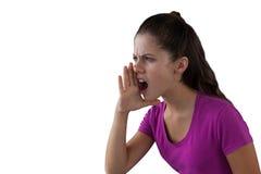 Muchacha enojada que grita Foto de archivo