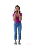 Muchacha enojada que grita Imagen de archivo libre de regalías