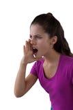 Muchacha enojada que grita Imagen de archivo