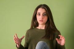 Muchacha expresiva del adolescente Imagenes de archivo