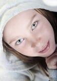 Muchacha eyed bonita Fotos de archivo