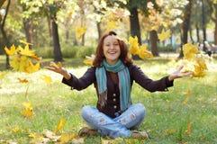 Muchacha feliz Fotos de archivo libres de regalías