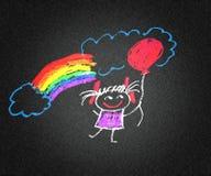 Muchacha feliz libre illustration