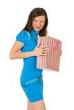 Muchacha feliz con compras Fotos de archivo libres de regalías