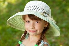 Muchacha feliz con las trenzas Imagenes de archivo