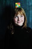 Muchacha feliz de la escuela Imagen de archivo libre de regalías