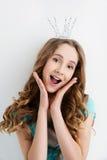Muchacha feliz de la princesa Fotografía de archivo libre de regalías