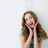 Muchacha feliz de la princesa Foto de archivo