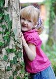 Muchacha feliz de tres años Imágenes de archivo libres de regalías