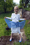 Muchacha feliz del bosque Fotos de archivo libres de regalías