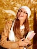 Muchacha feliz del estudiante Imágenes de archivo libres de regalías