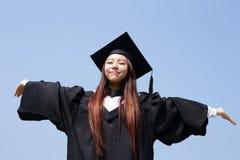 Muchacha feliz del estudiante de tercer ciclo Imagen de archivo libre de regalías