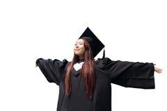 Muchacha feliz del estudiante de tercer ciclo Fotos de archivo