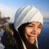 Muchacha feliz del invierno Imágenes de archivo libres de regalías