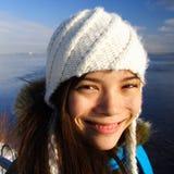 Muchacha feliz del invierno Imagen de archivo libre de regalías