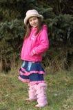 Muchacha feliz en campo Imagen de archivo libre de regalías