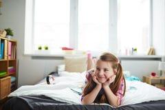 Muchacha feliz en el país Imágenes de archivo libres de regalías
