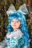 Muchacha feliz en traje del carnaval Foto de archivo