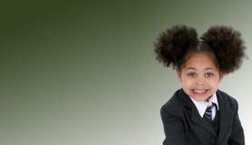 Muchacha feliz en uniforme escolar fotos de archivo