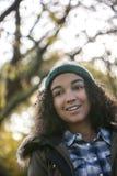 Muchacha feliz hermosa del afroamericano de la raza mixta Foto de archivo