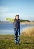 Muchacha feliz joven Foto de archivo libre de regalías
