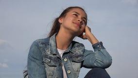 Muchacha feliz o adolescente femenino Fotografía de archivo libre de regalías