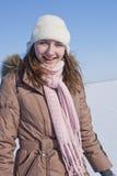 Muchacha feliz que permanece al aire libre Fotos de archivo libres de regalías