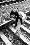Muchacha ferroviaria Imagen de archivo