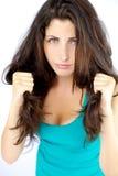 Muchacha fuerte hermosa con el pelo magnífico del ajuste Fotos de archivo