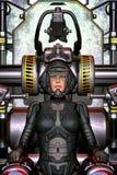 Muchacha futurista del piloto de espacio libre illustration