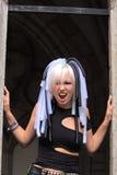 Muchacha gótica que grita Imagen de archivo libre de regalías