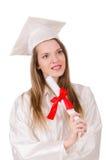Muchacha graduada imagen de archivo libre de regalías